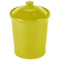 Homer Laughlin 572332 Fiesta Lemongrass Medium 2 Qt. Canister with Cover - 2 / Case