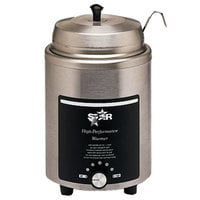 Star 4RW-L 4 Qt. Food Warmer with 1 oz. Ladle, Locking Ring and Cover - 120V, 600W