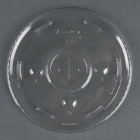 Dart Solo Conex L32C Clear Plastic Lid with Straw Slot 1000/Case