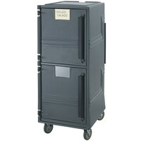 Cambro CMBP615 Charcoal Gray Combo Cart Plus with Standard Casters