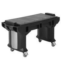 Cambro VBRTL6110 Black 6' Versa Work Table with Standard Casters - Low Height