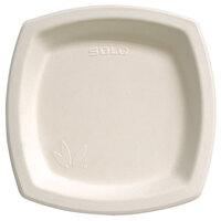 Dart Solo SCC8PSC Bare 8 1/4 inch Square Sugar Cane Plate - Compostable 500 / Case