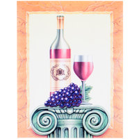 8 1/2 inch x 11 inch Menu Paper - Wine Themed Column Design Cover - 100/Pack