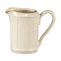 Homer Laughlin 1420-0039 Westminster Gothic 3.25 oz. Creamer - Off White 36 / Case