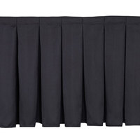National Public Seating SB16-48 Black Box Stage Skirt for 16 inch Stage - 48 inch Long