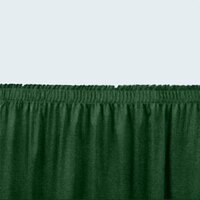 National Public Seating SS8-48 Green Shirred Stage Skirt for 8 inch Stage - 7 inch x 48 inch