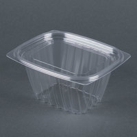 Dart Solo C16DCPRW ClearPac 16 oz. Clear Rectangular Plastic Container with Lid - 252/Case