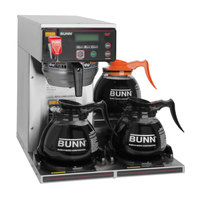 Bunn Axiom-DV-3 BrewWise 12 Cup Dual Voltage RFID Coffee Brewer with 3 Lower Warmers - 120V, 120/208V, 120/240V (Bunn 38700.0076)