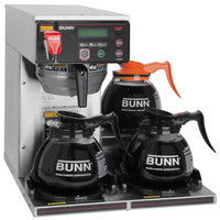 Bunn 38700.0076 Axiom DV-3 BrewWise 12 Cup RFID Coffee Brewer with 3 Lower Warmers - Dual Voltage