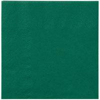 Hoffmaster 180337 Hunter Green Beverage / Cocktail Napkin   - 250/Pack