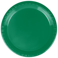 Creative Converting 28112011 7 inch Emerald Green Plastic Plate - 20/Pack