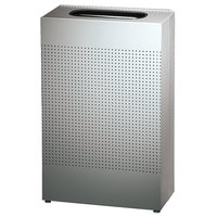 Rubbermaid SR14 Silhouettes Stainless Steel Designer Rectangular Waste Receptacle - 25 Gallon (FGSR14SSPL)