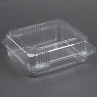 Dart Solo C51UT1 StayLock 8 1/4 inch x 7 3/4 inch x 3 inch Clear Hinged Plastic Medium Container - 250 / Case