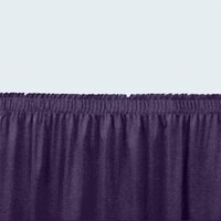 National Public Seating SS24-36 Navy Shirred Stage Skirt for 24 inch Stage - 23 inch x 36 inch