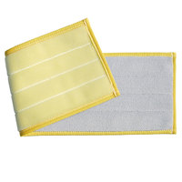 Unger DV40Y SmartColor 19 1/2 inch Yellow Damp Mop Pad