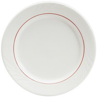 Tuxton YBA-102 Monterey 10 1/4 inch China Plate with Berry Band - 12/Case