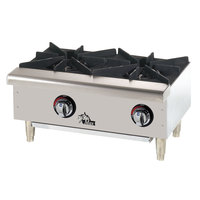 Star Max 602HWF 24 inch 2-Burner Countertop Range / Gas Hot Plate - 50,000 BTU