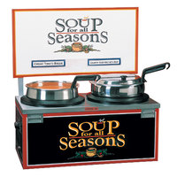 Nemco 6510-D7 Double Well 7 Qt. Soup Warmer with Header - Single Thermostat