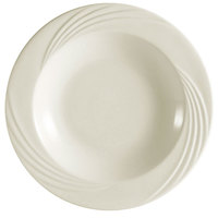 CAC GAD-3 Garden State 8 1/2 inch Bone White Round Porcelain Soup Plate - 24/Case