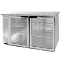 Beverage Air BB58GY-1-SS-WINE 59 inch SS Back Bar Wine Series Refrigerator - 2 Glass Doors