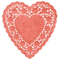 Red 6 inch Paper Heart Doilies 1000/Case