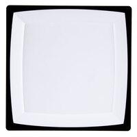 WNA Comet MS10WTUX 9 1/4 inch Square Milan Tuxedo Dinner Plate - 120 / Case