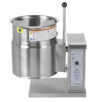 Cleveland KET-6-T 6 Gallon Tilting 2/3 Steam Jacketed Electric Tabletop Kettle - 208/240V