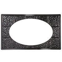 GET ML-192-BK Full Size Black Melamine Adapter Plate with Cut-Out for ML-183 or ML-184 Oval Casserole Dish