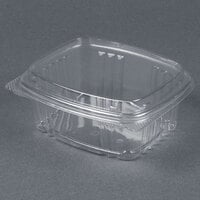 Genpak AD12F 5 3/8 inch x 4 1/2 inch x 2 7/8 inch 12 oz. Clear Hinged Deli Container with High Dome Lid - 200 / Case