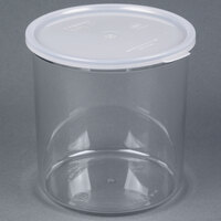 Cambro CCP27152 2.7 Qt. Clear Round Crock with Lid - 6 / Case