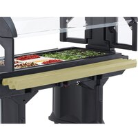 Cambro VBRR5614 5' Beige Tray Rail for Versa Food Bars and Work Tables
