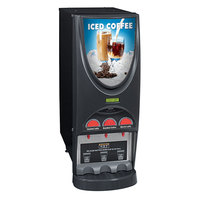 Bunn 36900.0026 iMIX-3 BLK Iced Coffee Dispenser with 3 Hoppers - 120V