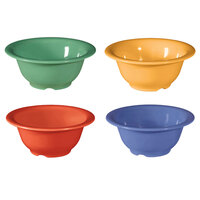 GET B-105-MIX -Diamond Mardi Gras 10 oz. Melamine Bowl, Assorted Colors - 48 / Case