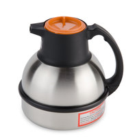 Zojirushi 64 oz. Stainless Steel Deluxe Thermal Carafe - Orange Top (Bunn 36252.0000)