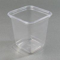 D&W Fine Pack SQ32N 32 oz. Square PLA Biodegradable / Compostable Plastic Clear Corn Deli Container 500/Case