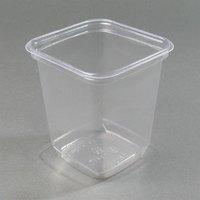 D&W Fine Pack SQ32N 32 oz. Square PLA Biodegradable / Compostable Plastic Clear Corn Deli Container 500/Case