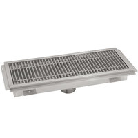 Advance Tabco FFTG-1230 12 inch x 30 inch Floor Trough with Fiberglass Grating