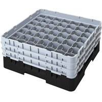 Cambro 49S1114110 Black Camrack 49 Compartment 11 3/4 inch Glass Rack