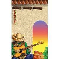 8 1/2 inch x 14 inch Menu Paper - Southwest Themed Mariachi Design Cover - 100/Pack