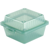 GET EC-08 4 3/4 inch x 4 3/4 inch x 3 1/4 inch Jade Green Reusable Eco-Takeouts Container - 24 / Case