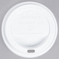 Dart Solo TL31R2-0007 10 oz. White Plastic Travel Lid - 1000/Case