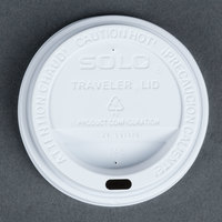 Dart Solo TL31R2-0007  10 oz. White Plastic Travel Lid - 1000 / Case