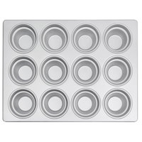 12 Cup Aluminized Steel 7.33 oz. Large Crown Muffin Pan
