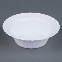 Fineline Flairware White 205-WH 5 oz. Plastic Bowl - 18/Pack