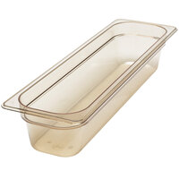Cambro 24LPHP150 H-Pan 1/2 Size Long Amber High Heat Food Pan - 4 inch Deep