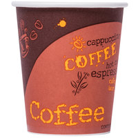 Choice 10 oz. Poly Paper Hot Cup with Coffee Design - 50 / Pack