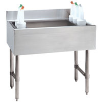 Advance Tabco CRI-16-36-10 Stainless Steel Underbar Ice Bin with 10-Circuit Cold Plate - 36 inch x 21 inch