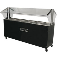Advance Tabco B5-240-B-S-SB Enclosed Base Everyday Buffet Stainless Steel Three Pan Electric Hot Food Table with Stainless Steel Liners - Open Well - 208/240V