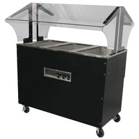 Advance Tabco B3-120-B-S-SB Enclosed Base Everyday Buffet Stainless Steel Three Pan Electric Hot Food Table with Stainless Steel Liners - Open Well - 120V