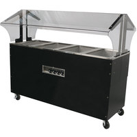Advance Tabco B4-120-B-S-SB Enclosed Base Everyday Buffet Stainless Steel Four Pan Electric Hot Food Table with Stainless Steel Liners - Open Well - 120V